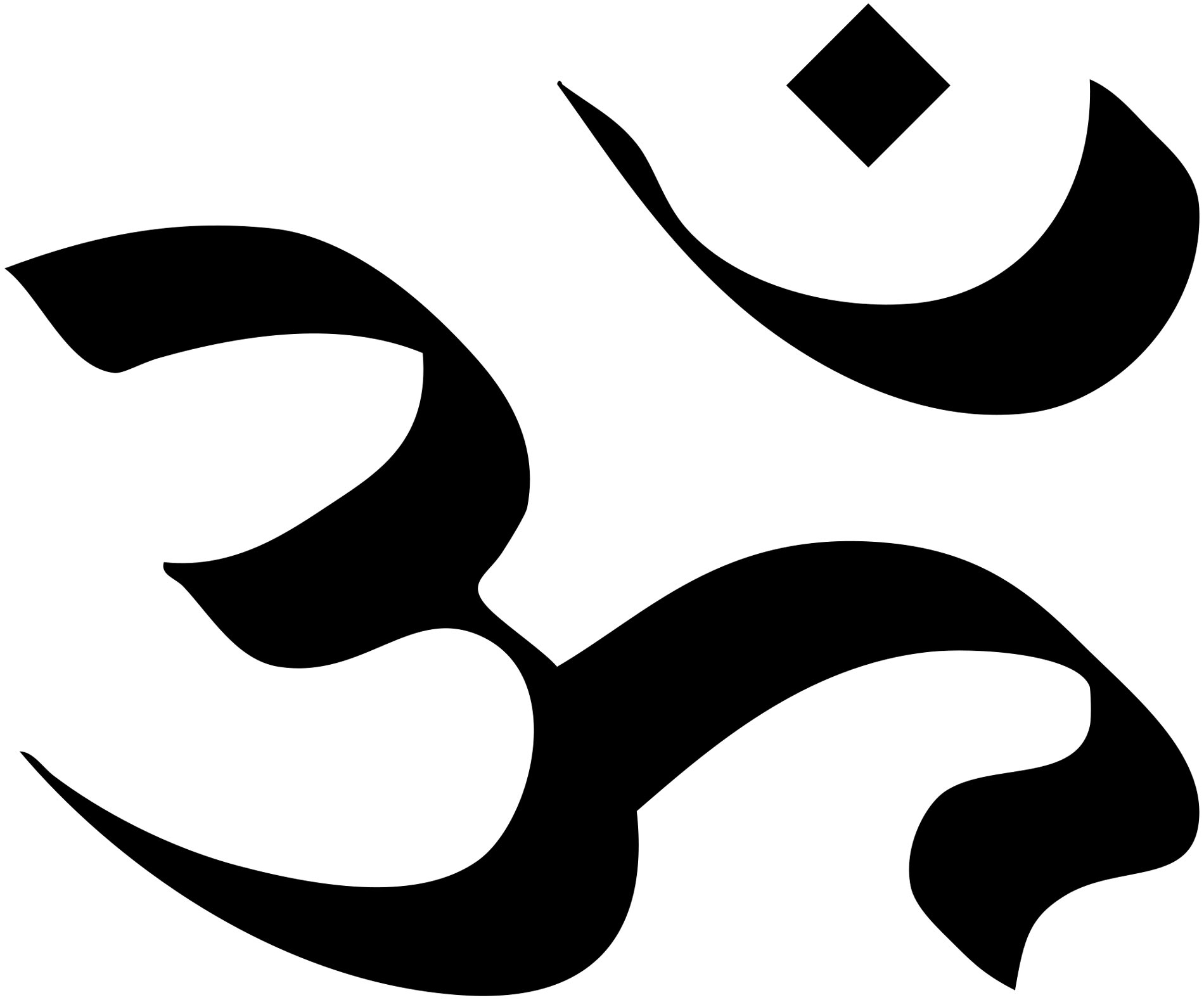 this symbol represents the three aspects of god the brahma a the