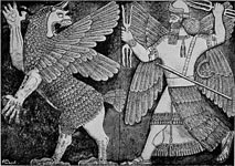 winged sumerian man