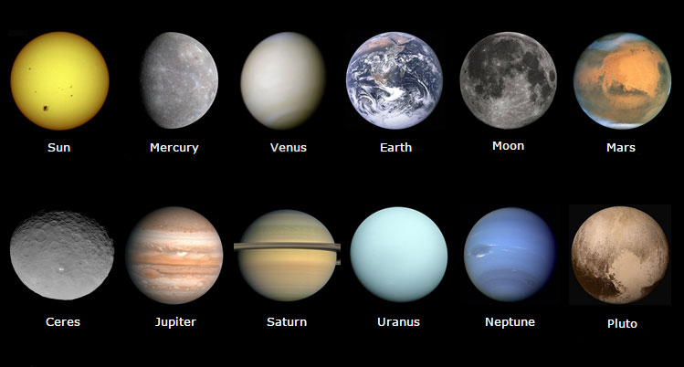 define planets and moon - photo #39