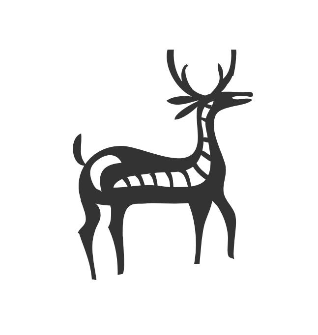 Native America Deer Symbol